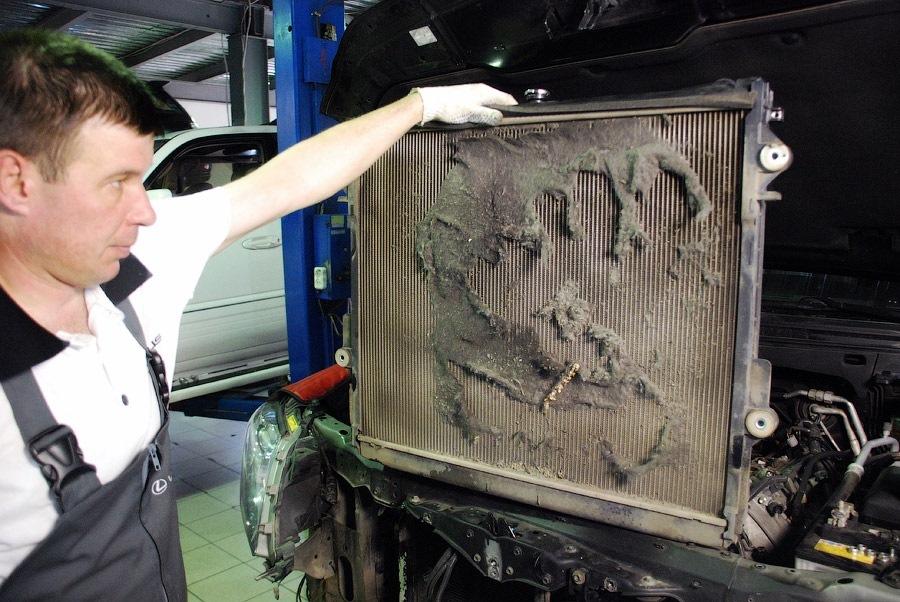 очистка радиаторов охлаждения авто